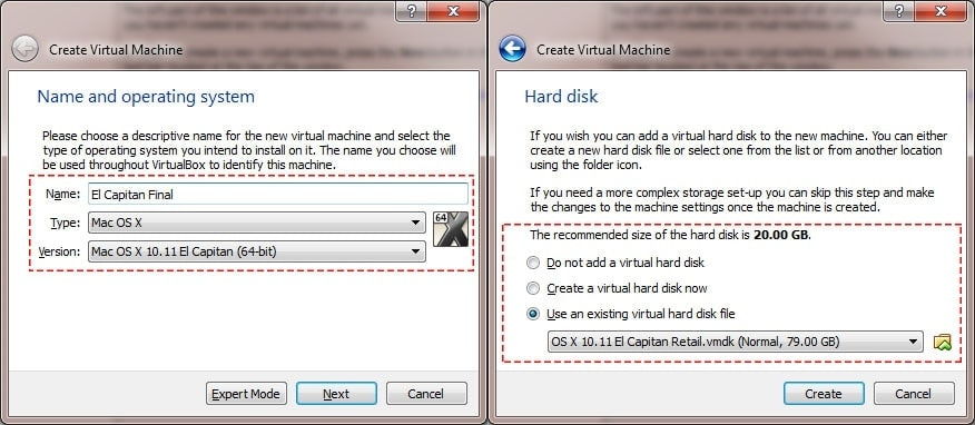Create New Virtual Machine on VirtualBox