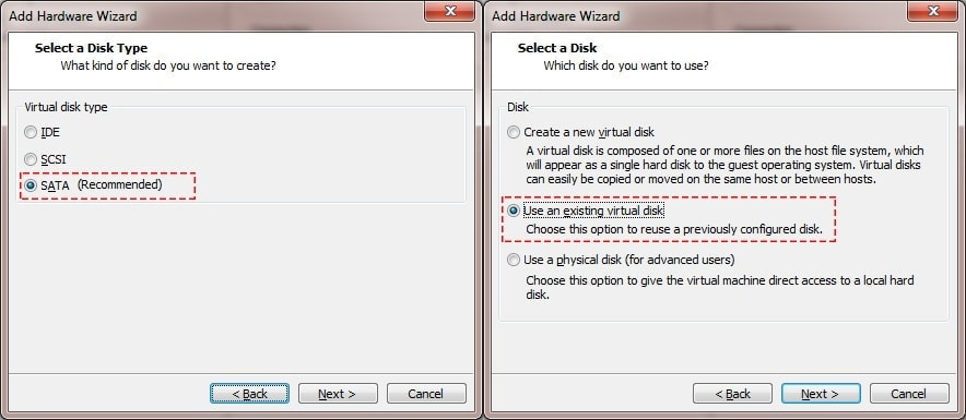 Edit Virtual Machine - Add Harddisk
