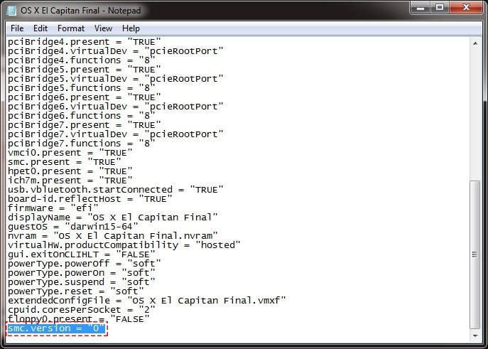 Edit vmx file with Code