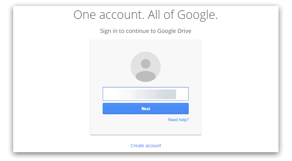 Login with your account