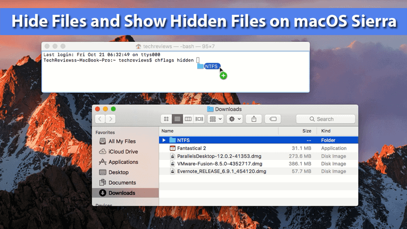 How to Hide Files and Show Hidden Files on macOS Sierra