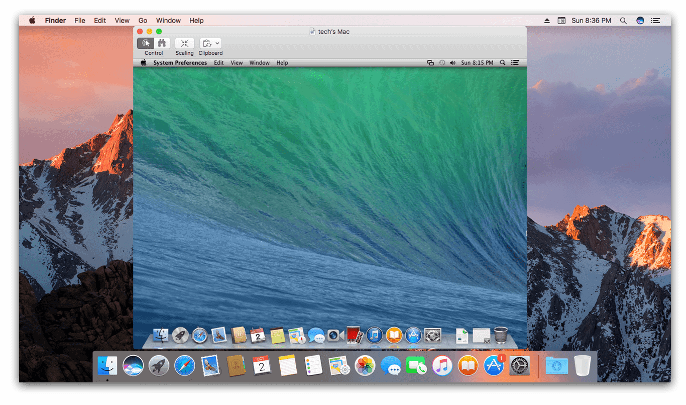 Remote Desktop on macOS Sierra with Screen Sharing