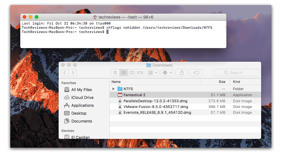 Unhide a File or Folder on macOS
