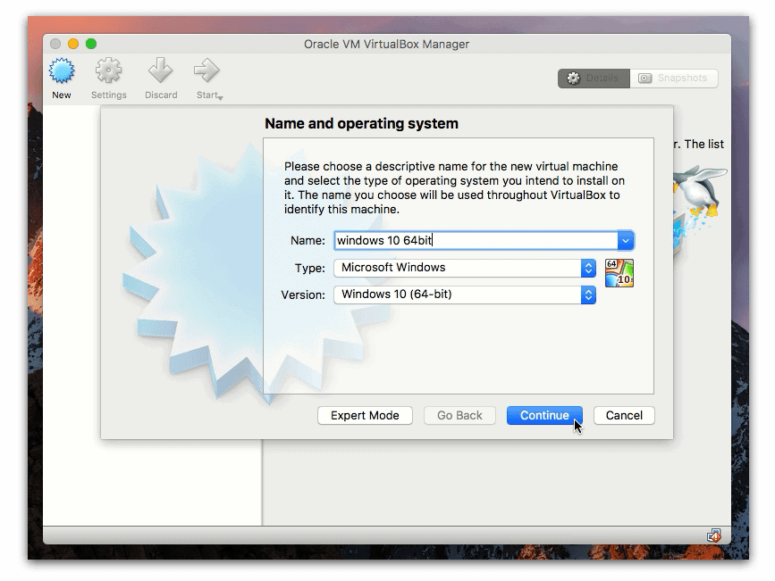 Create a virtual machine