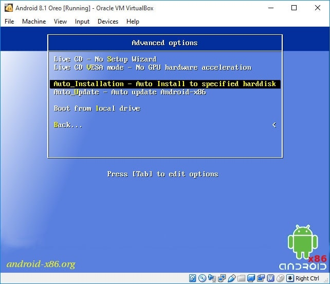 Install Android 8 1 Oreo in Virtual Machine: VMware and VirtualBox