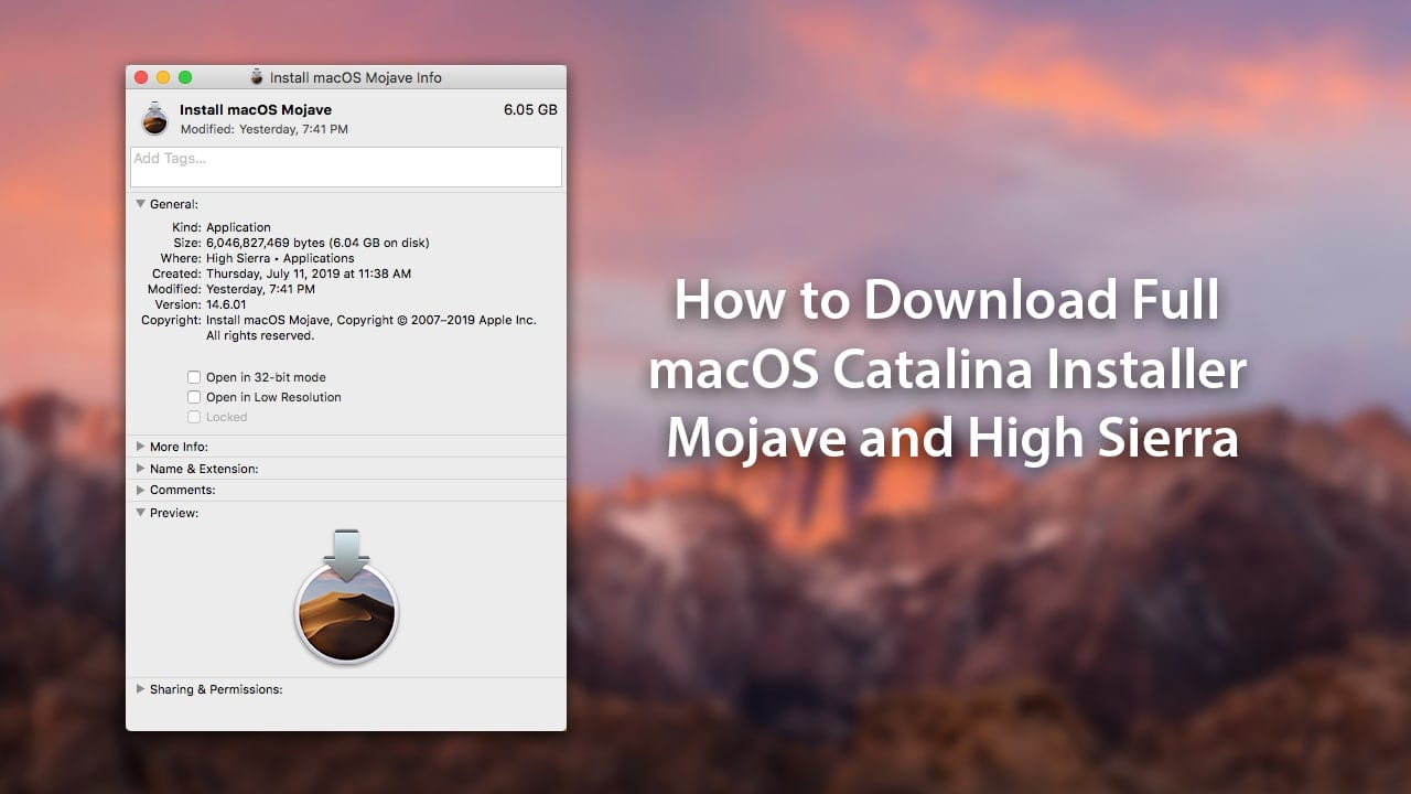 How to Download Full macOS Catalina Installer and Mojave