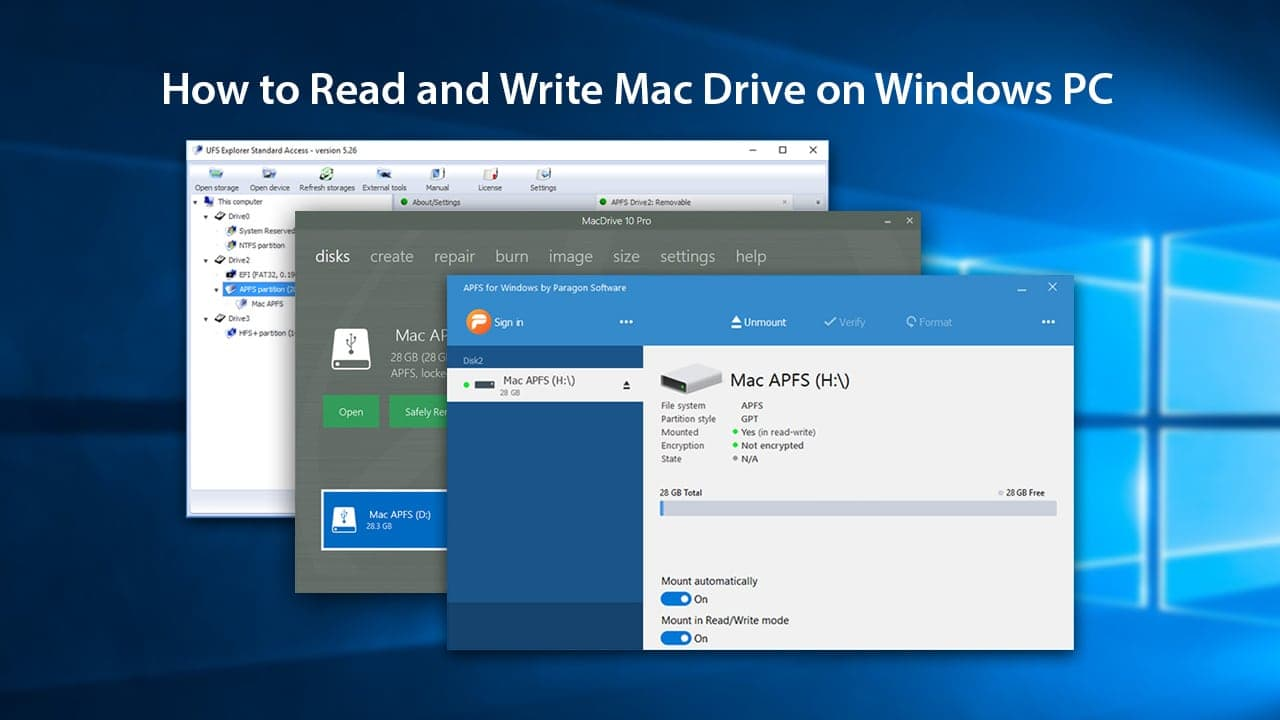 How to Read and Write Mac Drive on Windows PC