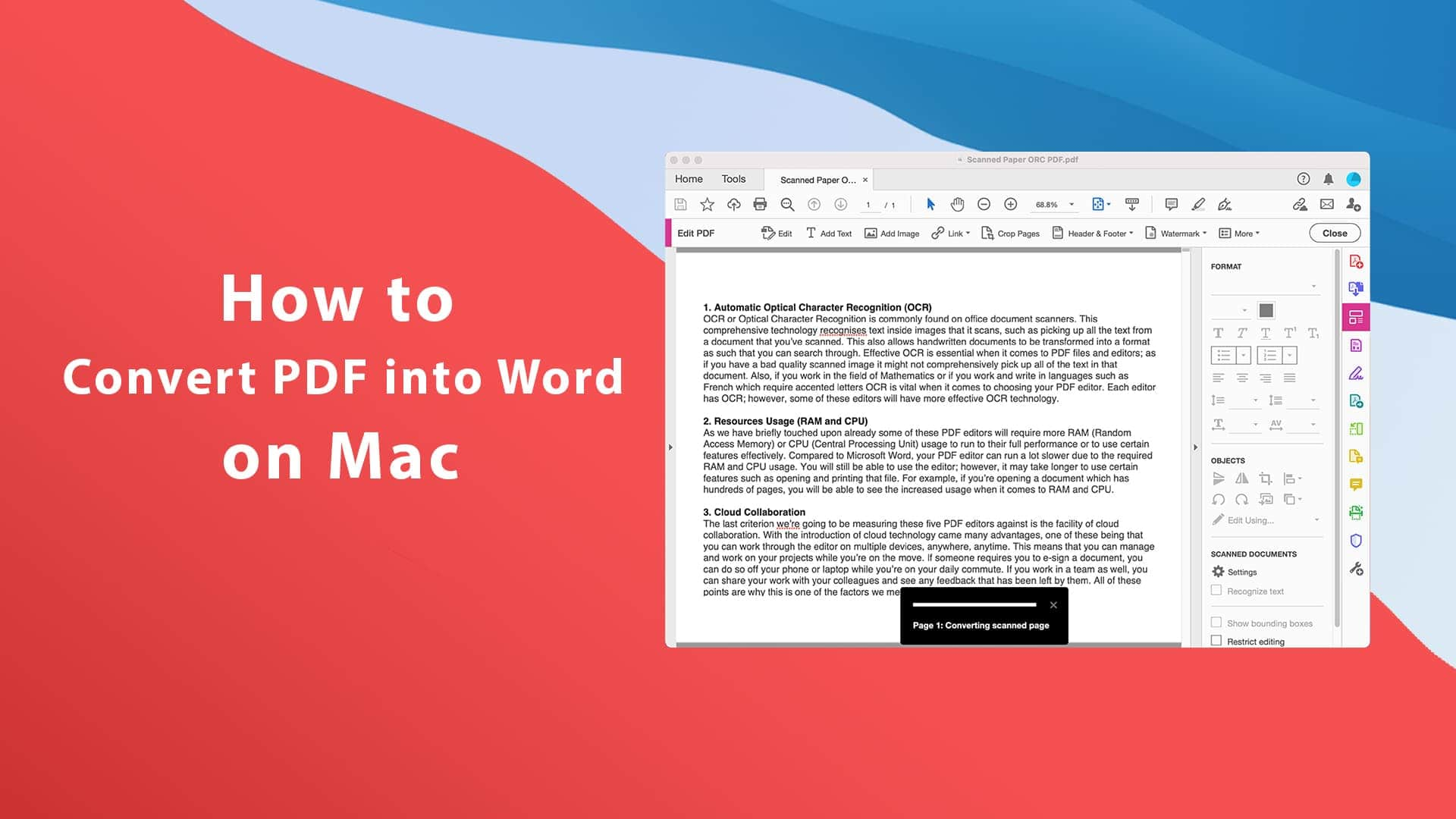 How to Convert PDF into Word on Mac